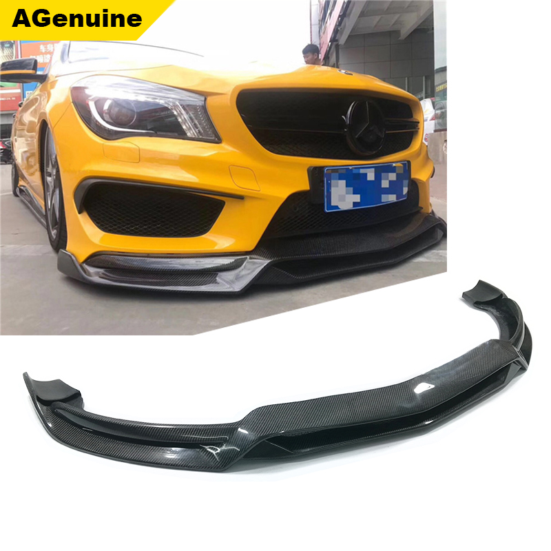 AGenuine Real carbon fiber car front bumper splitters front bumper lip spoiler for mercedes-benz CLA class <strong>W117</strong>