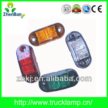 "Top Quality Emark 2.5"" 10-30v LED Side Marker Lights for Trucks"