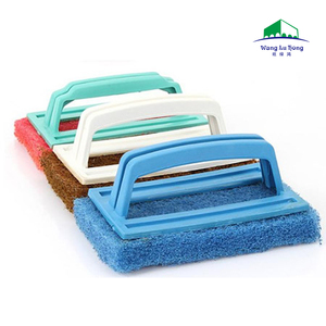 Non Scratch Brush Cleaning Scrub Brush with Short Scrubbing Pad Handle for household heavy duty cleaning