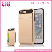 High-end businessman lover Metal Jewel Box Hidden Card mobile phone case for iphone 7 7plus 6 6plus