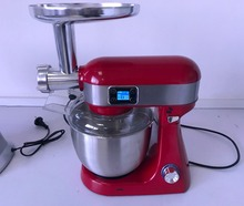 Full aluminum die casting high end 1000W SS bowl stand mixer with LCD screen