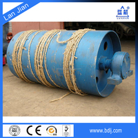 Hebei lanjian manufacture rubber coated conveyor tensioner pulley