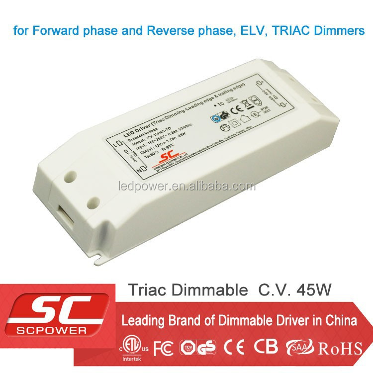 KV-36045-TD led transformer 45W work with led dimmer switch trailing edge