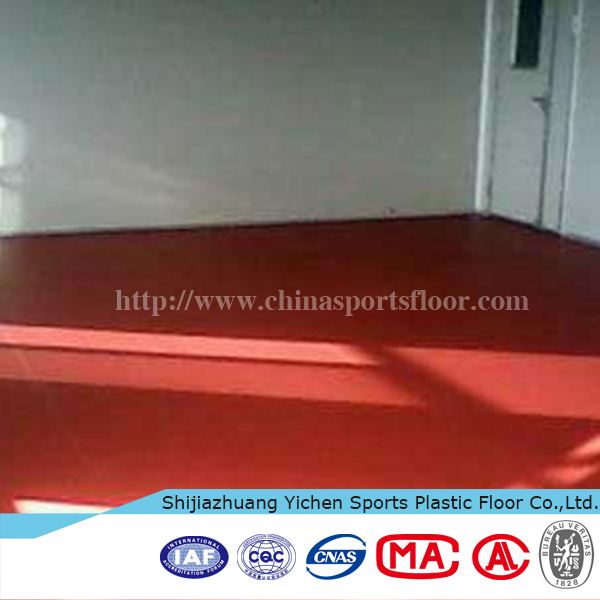 professional ITTF approved PVC roll table tennis court flooring