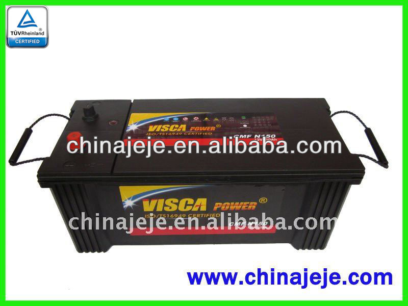 Maintenance Free battery N150 MF 12V150AH