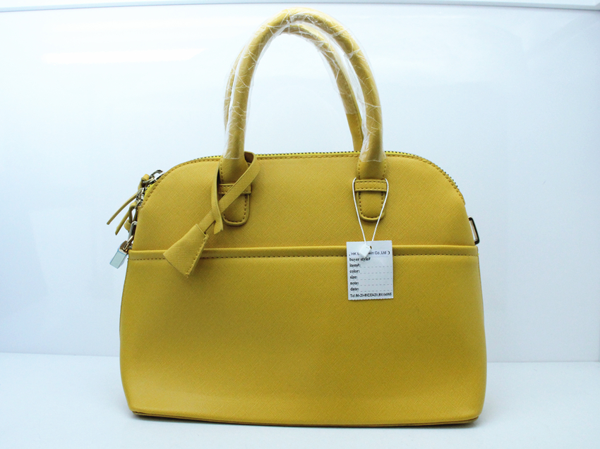 new design fashion leather scallop edge handbag for lady