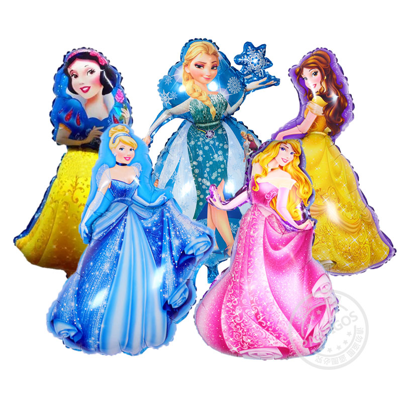 [Partigos] Princess Cartoon Character Foil Helium Balloon For Kids Birthday Party Decoration