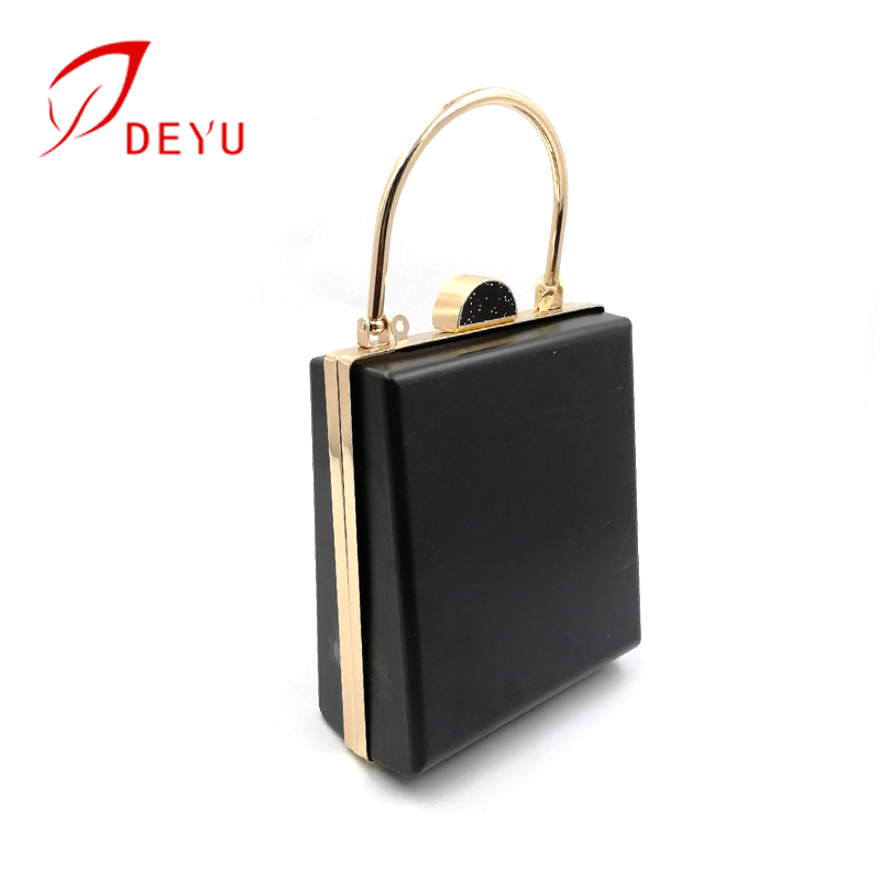 Handbag hardware wholesale metal purse frame clutch frame with plastic shell