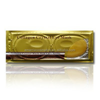 24K Gold Collagen Crystal Skin Care Anti-aging Hydrating Brightening Cooling Gel Effect Eye Mask under eye brightener
