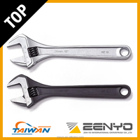 Made in Taiwan Drop Forged CRV Chrome Plated Adjustable Wrench 10 inch