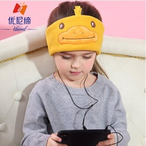 2017 New Product Uneed Cute Wired Headset Children phones For Sleeping/Sports
