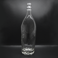 700ml 1000ml Glass Bottle For Brandy/ Gin/Vodka Classic Unique Shaped Glass Bottle