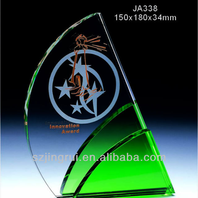 nice selling crystal trophy plaque