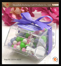 Wholesale clear acrylic candy box custom chocolate display stand for retailer shop