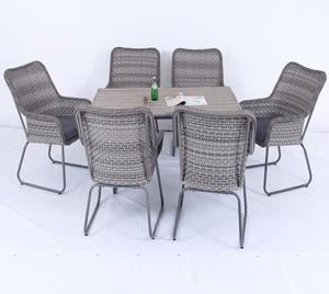 7 piece dining set Alum rattan/wicker outdoor/garden patio furniture table and chairs set for sale