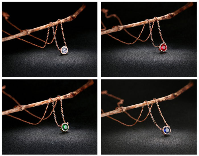 Top Quality Classical 18 천개 금 & White 금 Plated CZ Diamond 펜 던 트 Necklace Wholesale 대 한 Women N388