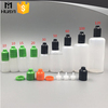 e-liquid PE plastic smoke oil bottle with colored screw cap