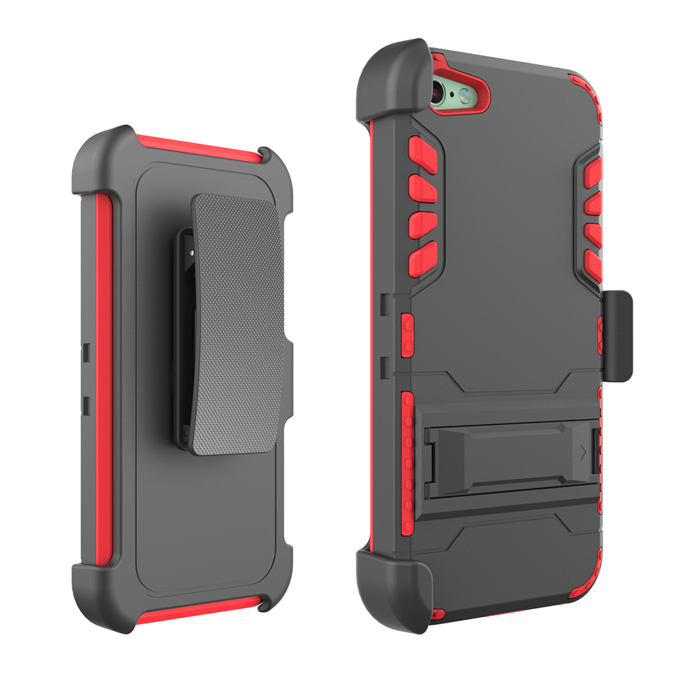 Hybrid Kickstand Armor IVI Combo Holster Case For Iphone 5 5s Card Holder Case