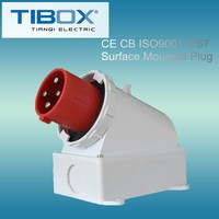 2015 Newly developed TIBOX fireproof connector socket female to male electrical plug adapter