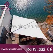 Beach triangle sun sail stainless steel electric awning