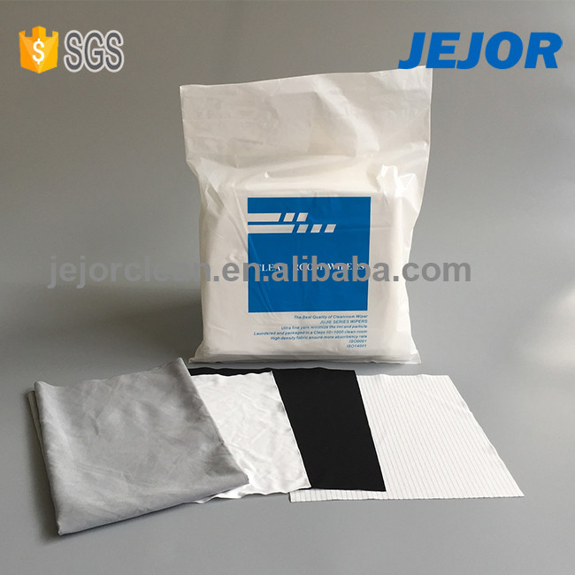 Double Knitted Polyester Cleanroom Wipers LCD Screen Cleaning Cloth