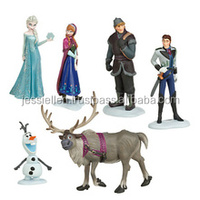 6x Frozen Anna Elsa Olaf Sven Doll Loose Figurine Figure Cake Top Toy Set