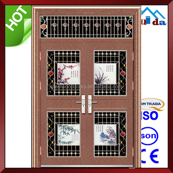 QD-SS052 Entrance Anti- theft Villa Main Stainless Steel Safety Door