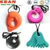 Silicone Pendant Teething Wholesale/2014 New Cheap Silicone Pendant for Baby Teething