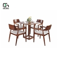 High end solid wood material cafe table and chair