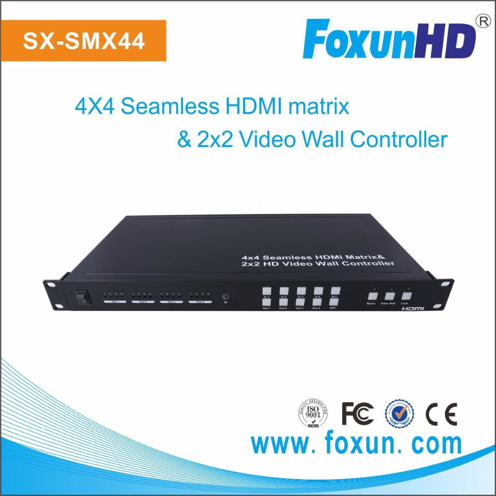 Foxun Multiviewer 2x2 Seamless Switcher & video switcher mixer