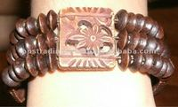 coconut and wood bracelet bead