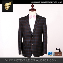 Wholesale imported brand name three colors black royal navy blue 2 piece work party mans suit