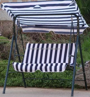 Outdoor leisure two seat patio swing chair with canopy