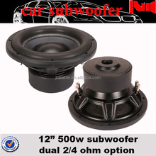 steel frame subwoofer with dual 4 ohm 500w rms portable speaker from China manfuacturer