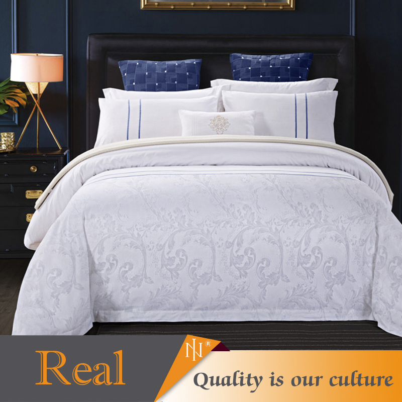 Comfortable classic new jacquard design hotel cotton bedding