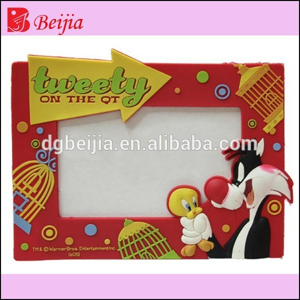 Cartoon characters photo picture frame silicone rubeer pvc magnetic photo frame