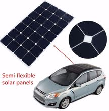 sunpower folding foldable adhesive thin film semi flexible solar panel for boat car 30w 50w 90w 100w