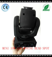Hot sale small 10W mini LED moving head spot light for nightclub