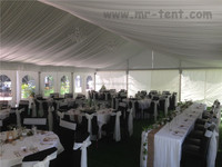 cheap top roof party tent with curtain decoration