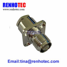 Coax cable clamp female tnc flange connector