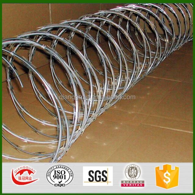 cheap BTO 30 galvanized Concertina Razor Barbed Wire for sales