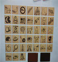 wooden and rubber stamp for children's toy