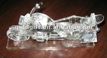 3d crystal Motorcycle model