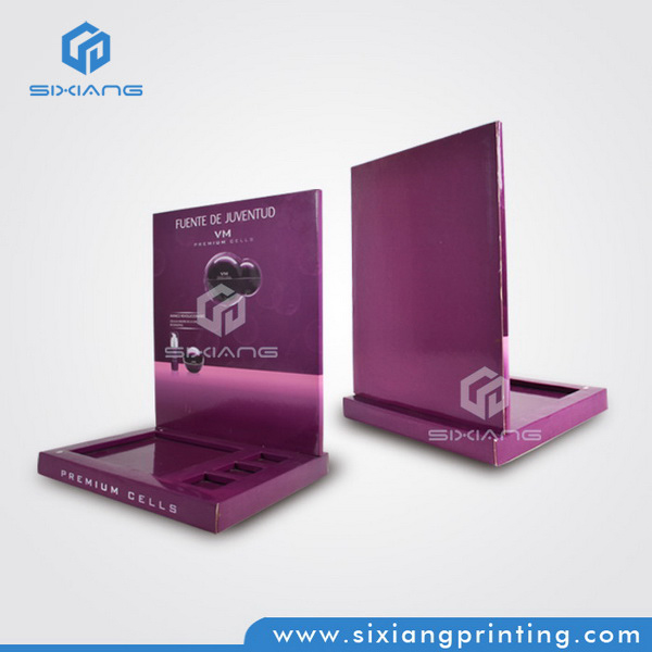 Eco-Friendly Custom Easy-Assemble Cardboard Eyelash Display Stand for Advertising Equipment