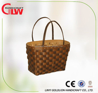 Wicker crafts hand woven wood chip bag
