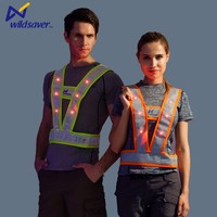 HI VIS Flashing Led Clothing OEM