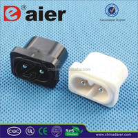 3A 220V To 110V Plug Adapter Electrical Power Socket Black And White Color