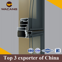 China factory extrusion factory aluminum curtain wall system profiles