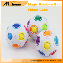 New amazing Magic Rainbow Ball Fidget Puzzle Cube toys, 12 Holes with 11 Different Color Small Balls in It for reliefing stress