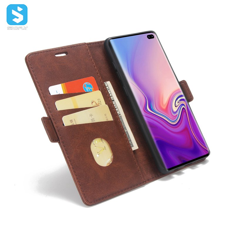 TPU PU leather business style case cover for Samsung Galaxy S10 Plus